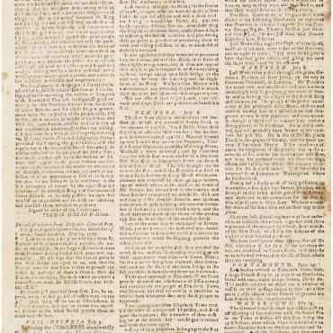 News Report of the Declaration of Independence