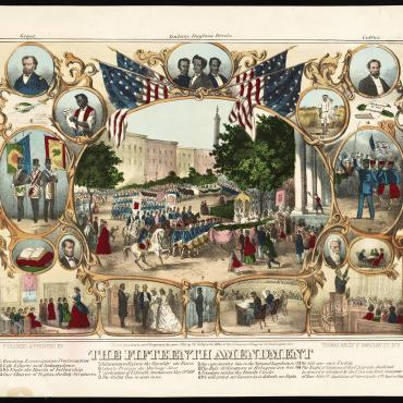 Lithograph Celebrating the 15th Amendment, 1870