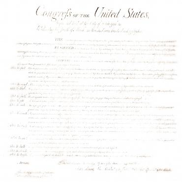 draft of the Bill of Rights