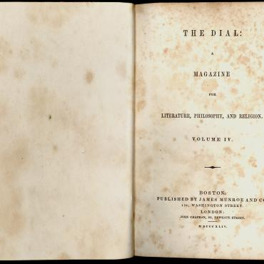 A bound copy of The Dial