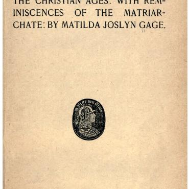 Title Page of 'Woman, Church and State,' 1893