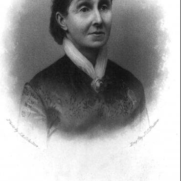 Engraving of Virginia Minor, Suffragist