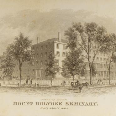 illustration of Mount Holyoke Female Seminary