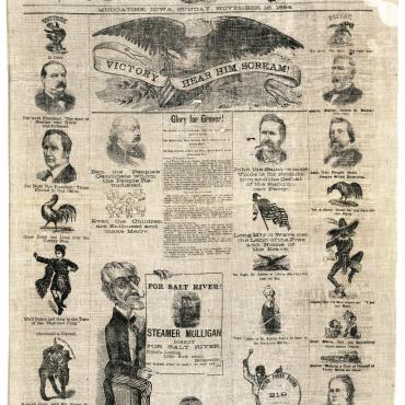 Newspaper Mocks Belva Lockwood's Election Defeat, Nov. 16, 1884