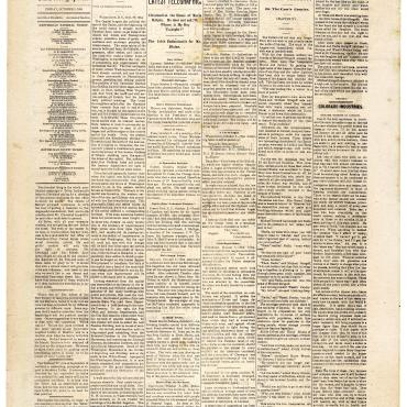 Newspaper Coverage of Belva Lockwood's Campaign for Presidency, Oct. 3, 1884