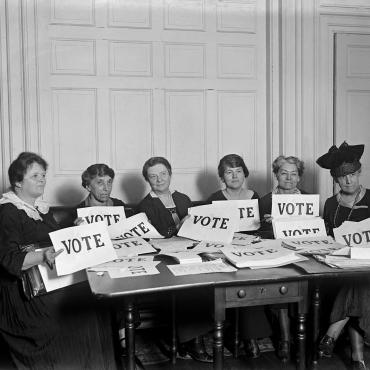 Members of League of Women Voters, September 1924