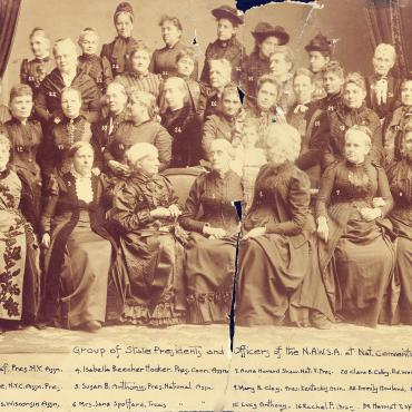 National American Woman Suffrage Association Leaders, 1892