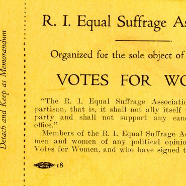 Membership Ticket for R.I. Equal Suffrage Association