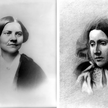 Portraits of Lucy Stone and Julia Ward Howe, Suffragists
