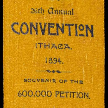 New York Woman Suffrage Association Ribbon, 1894