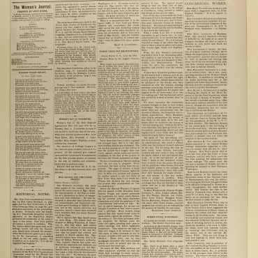 Newspaper Coverage of Failed N.Y. Women's Suffrage Petition, 1894