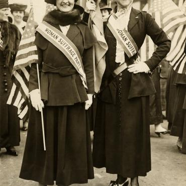 Participants in NYC Woman Suffrage Parade, April 19, 1917