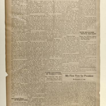 Newspaper Coverage of Rep. Jeannette Rankin, First Woman in Congress
