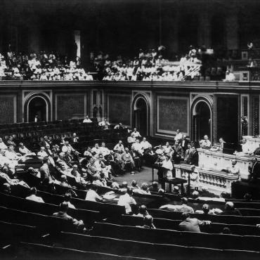 Rep. Jeannette Rankin on Floor of Congress, 1917