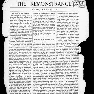 Women Publish Anti-Suffrage Newsletter