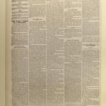 Newspaper Coverage of Susan B. Anthony's Trial for Voting, June 28, 1873