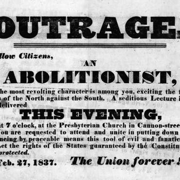 1837 anti-abolitionist handbill