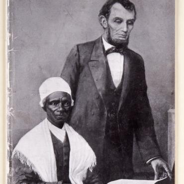 magazine cover image of Sojourner Truth with Abraham Lincoln.