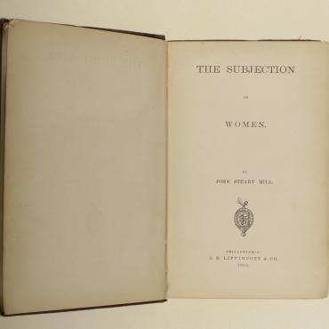 Title Page of  'The Subjection of Women,' 1869