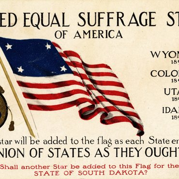 Pro-Suffrage Card, Circa 1896-1910
