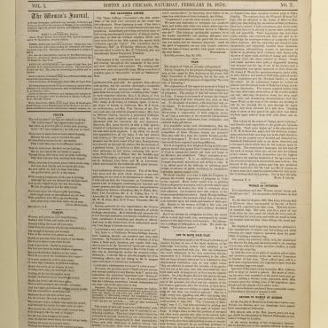 Newspaper Coverage of Utah Women Getting the Vote, Feb. 19, 1870