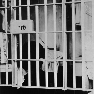 Suffragist Vida Milholland in Jail, Circa 1917