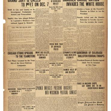 Newspaper Coverage of Carrie Nation, Nov. 19, 1903