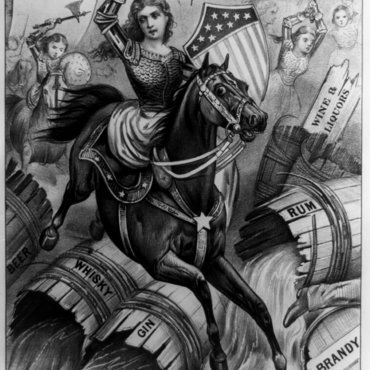 Political Cartoon of Temperance Movement, Circa 1874