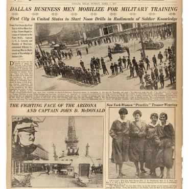 Dallas Holds Drills to Prepare for World War I, 1917