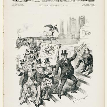 'Harper's Weekly' Cartoon of 'Original' Coxey Army