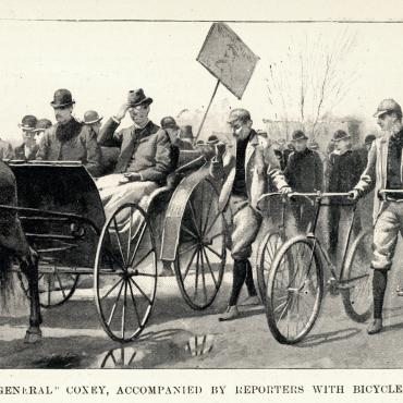 'General Coxey' Approaches the U.S. Capitol