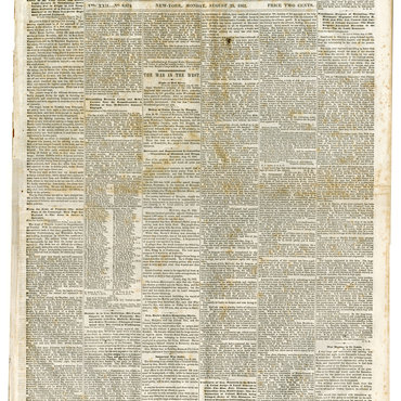 President Lincoln's Response to Horace Greeley, Front Page