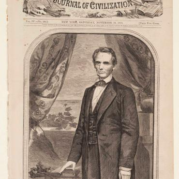 Illustration of Newly Elected Lincoln, 1860
