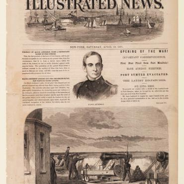 Newspaper Article Recounts Ft. Sumter, 1861