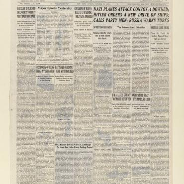 News Coverage of Debate over Neutrality Act, Oct. 22, 1939