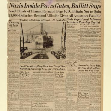 News Coverage of the Fall of Paris to the Nazis, June 14, 1940