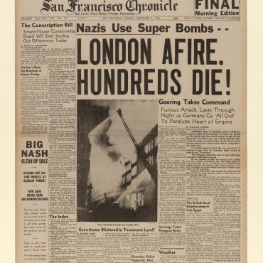 News Coverage of the London Blitz, Sept. 9, 1940