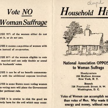 Anti-Suffrage Pamphlet Offers 'Household Hints' to Women