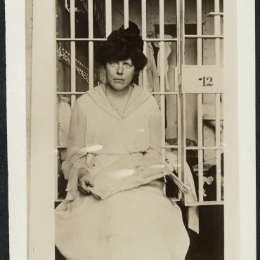 Suffrage Activist Lucy Burns in Occoquan Workhouse