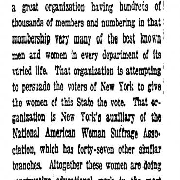 Carrie Chapman Catt Writes to Editor of 'The New York Times'