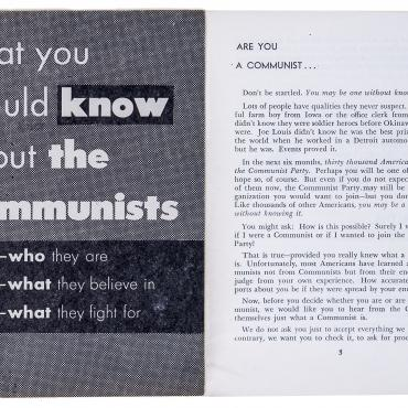 Communist Pamphlet Seeks To Dispel Myths