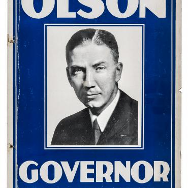Floyd Olson Gubernatorial Campaign Poster Boasts of 'Courage'