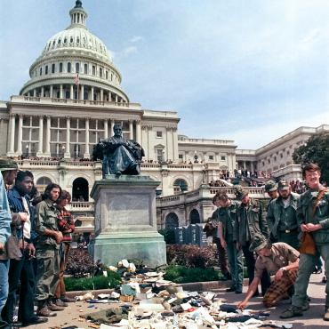 Anti-Vietnam War Protest Arrives at the U.S. Capitol