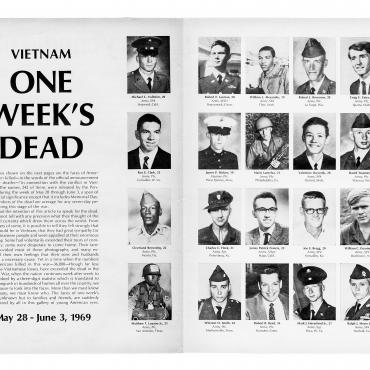 'Life' Magazine Memorializes 'One Week's Dead' in Vietnam