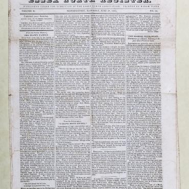 Newspaper Examines Catholic Institutions, 1835