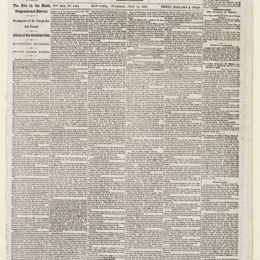 Newspaper Coverage of the 1863 New York City Draft Riots