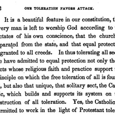 Samuel Morse Alleges Catholic Conspiracy Against U.S. (1 of 4)