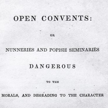 Samuel Morse Recommends Anti-Catholic Book on Convents, 1836