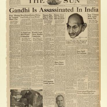 Gandhi Slain in India, 1948