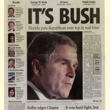 'Sentinel' Prematurely Calls 2000 Election for Bush